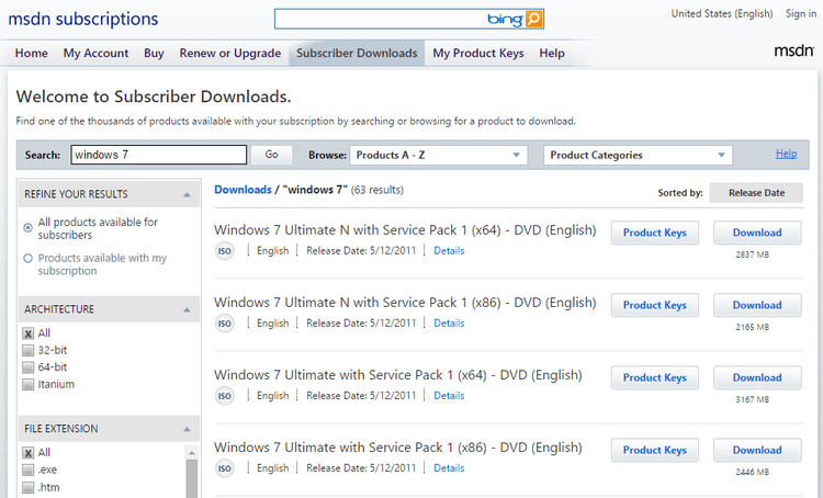 Check MSDN Subscription