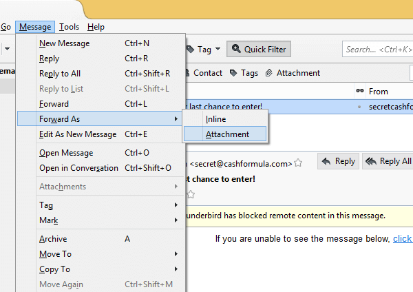 How to ForwardEmail as An Attachment 18